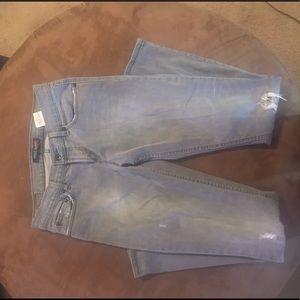 Gray distress Levi jeans